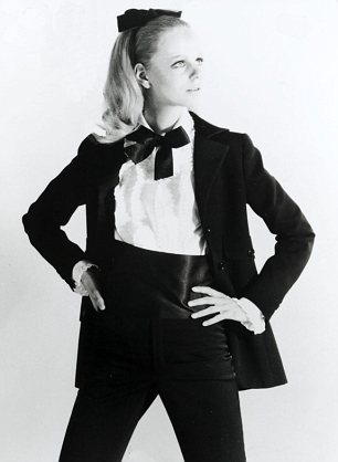 WARNING: PICTURE SCANNED FOR OVERNIGHT FEATURES Fashion: Smoking suit from xxxxxxx